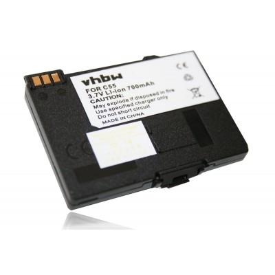 Siemens EBA-510 kompatibilis akkumulátor vezeték nélküli otthoni telefonokhoz - 700mAh (3.7V)