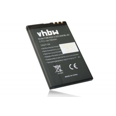 Nokia BL-4U  utángyártott mobiltelefon li-ion akku akkumulátor - 700mAh (3.7V)