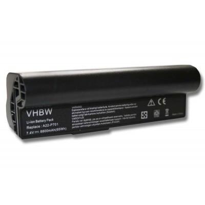 Asus A22-700, A22-701 utángyártott laptop akkumulátor akku - 8800mAh (7.4V) fekete