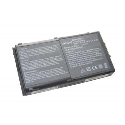 Acer BTP-39D1, BTP-39SN, BTP-550P, BTP-620 utángyártott laptop akkumulátor akku - 4400mAh (14.8V) fekete