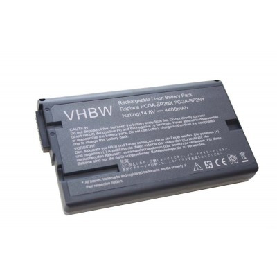 Sony PCGA-BP2NX utángyártott laptop akkumulátor akku - 4400mAh (14.8V) fekete
