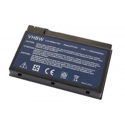 Acer BT.T2803.001 utángyártott laptop akkumulátor akku - 4400mAh (14.8V) fekete