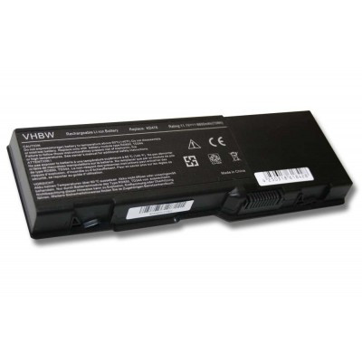 Dell KD476 (Inspiron 6000, 6400, E1505 stb.) utángyártott laptop akkumulátor akku - 6600mAh (11.1V) fekete