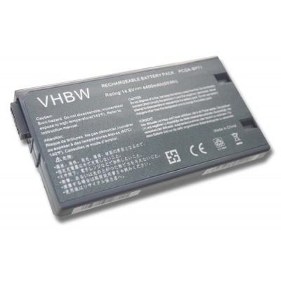 Sony PCGA-BP71, PCGA-BP71A utángyártott laptop akkumulátor akku - 4400mAh (14.8V) fekete