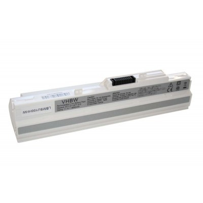 Medion BTP-S11, BTP-S12, BTY-S11, BTY-S12, BTY-S13 utángyártott laptop akkumulátor akku - 6600mAh (11.1V) fehér