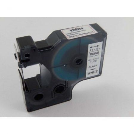 Dymo D1 18051 szugorcsöves szalag/zsugorszalag 9mm*1.5m fekete-fehér