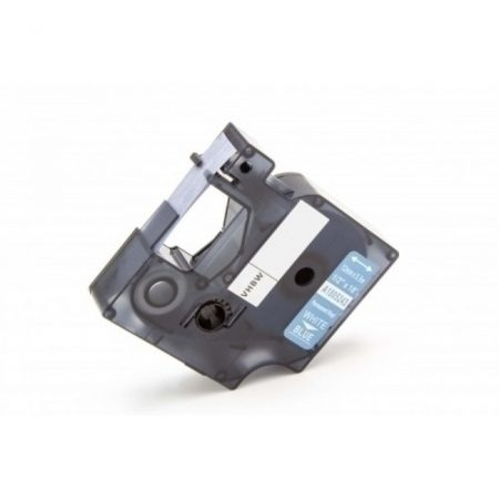 Dymo ID1 1805243 12mm * 5.5m kék alapon fehér ipari vinyl PVC feliratozószalag kazetta