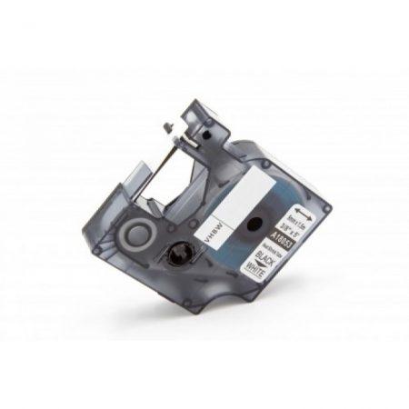 Dymo D1 18053 9mm * 1.5m fehér alapon fekete nyomtatás zsugorcsöves feliratozószalag
