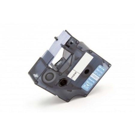 Dymo ID1 1805417 19mm * 5.5 ipari kék alapon fehér nyomtatás nylon feliratozószalagkazetta