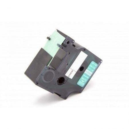 Dymo ID1 RHINO 1805426 vinyl PVC zöld alapon fehér 24mm * 5.5m feliratozószalag kazetta