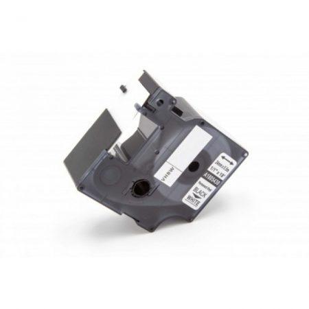 Dymo 1805430 fehér alapon fekete 24mm * 5.5m vinyl PVC feliratozószalag kazetta