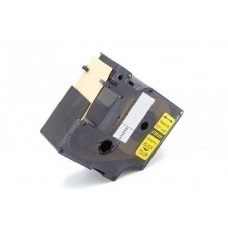 Dymo RHINO D1 1805431 24mm * 5.5m sárga alapon fekete utángyártott feliratozószalag kazetta