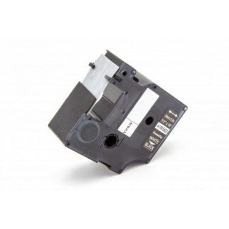 Dymo RHINO 1805432 24mm * 5.5m fekete alapon fehér utángyártott vinyl PVC feliratozószalag