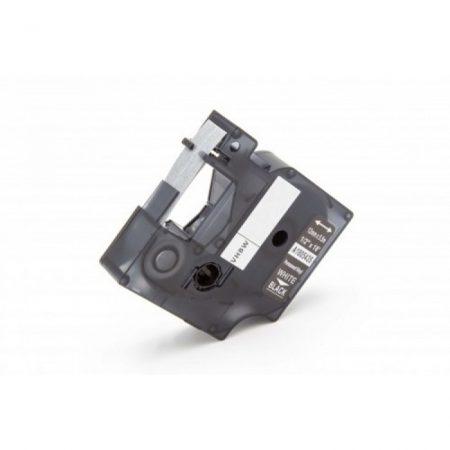 Dymo Rhino ID1 1805435 12mm, fehér alapon fehér ipari PVC vinyl szalag kazetta