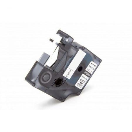 Dymo ID1 utángyártott 18055 Rhino kompatibilis ipari zsugorcsöves feliratozószalag 12mm*1.5m fekete-fehér