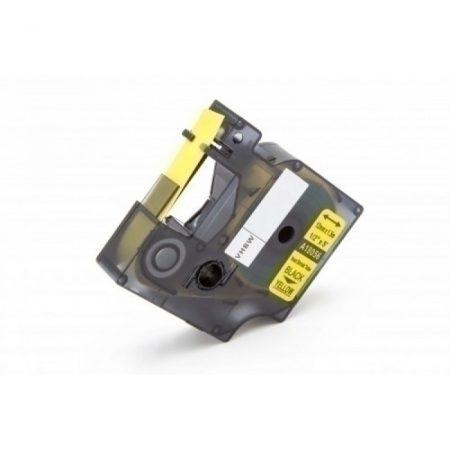 Dymo D1 18056 utángyártott 12mm * 1.5m zsugorcsöves feliratozószalag sárga alapon fekete