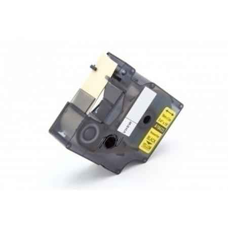 Dymo 18433 19mm * 5.5m sárga alapon fekete vinyl PVC feliratozószalag kazetta