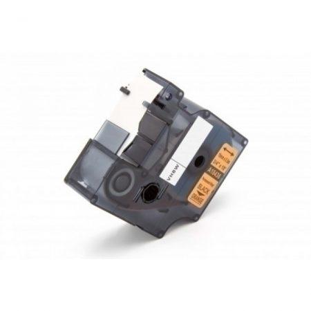 Dymo 18436 ID1 ipari PVC vinyl narancs alapon fekete 19mm * 5.5m feliratozószalag kazetta