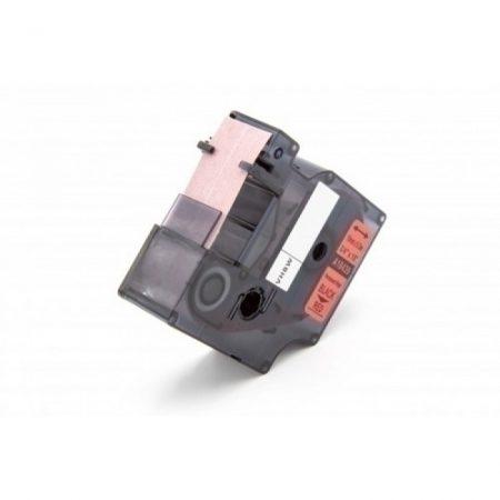 Dymo 18439 19mm * 5.5m piros alapon fekete vinyl PVC tartós feliratozógép szalag kazetta
