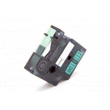 Dymo ID1 18441 12mm * 5.5m fekete-zöld utángyártott PVC vinyl címke szalag