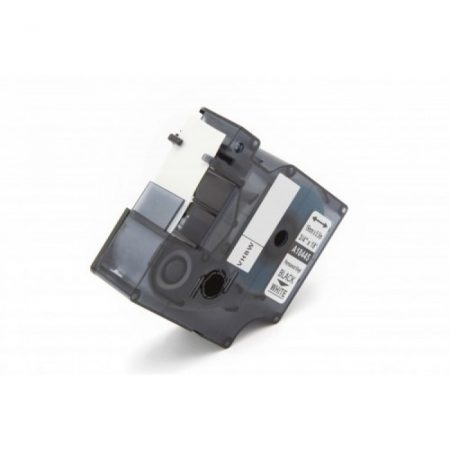 Dymo ID1 18445 19mm * 5.5m fehér alapon fekete utángyártott vinyl PVC feliratozószalag kazetta