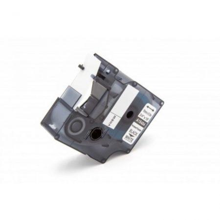 Dymo ID1 18484 19mm * 5.5m fehér alapon fekete utángyártott tartós poliészter feliratozószalag kazetta 3M PL és Dymo Rhino kompatibilis
