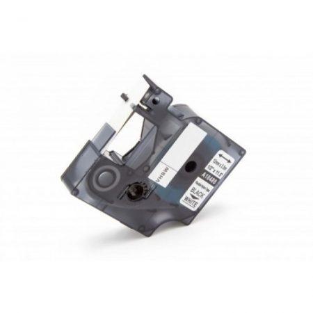 Dymo ID1 18488 12mm * 3.5m fehér alapon fekete nylon ipari feliratozószalag kazetta