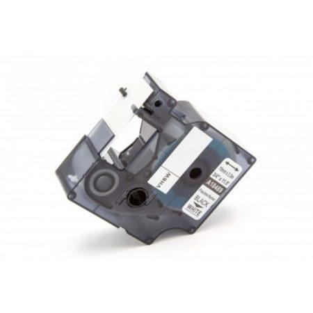 Dymo ID1 utángyártott 18489 fehér alapon fekete 19mm * 3.5 ipari nylon feliratozószalag kazetta