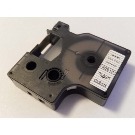 Dymo D1 40910 9mm átlátszó alapon fekete feliratozószalag