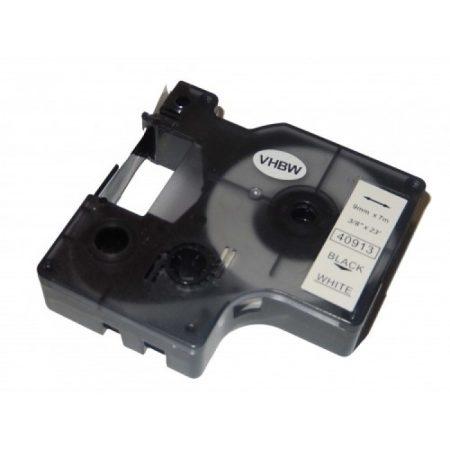 Dymo D1 40913 utángyártott feliratozógép szalag 9mm*7m fekete-fehér
