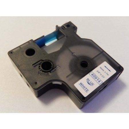 Dymo D1 40914 9mm * 7m fehér alapon kék utángyártott feliratozószalag kazetta