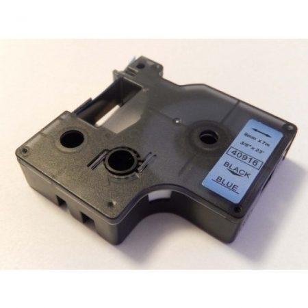 Dymo 40916 D1 9mm 7m fekete-kék feliratozógép szalag