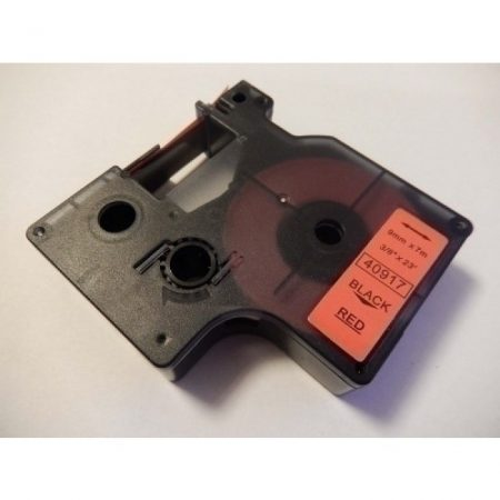 Dymo D1 40917 9mm * 7m piros alapon fekete utángyártott feliratozószalag kazetta