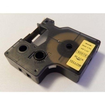 Dymo D1 fekete-sárga 40918 9mm*7m feliratozószalag kazetta