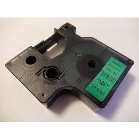 """Dymo 40919 """"D1"""" zöld alapon fekete 9mm * 7mm feliratozógép-szalag kazetta"""