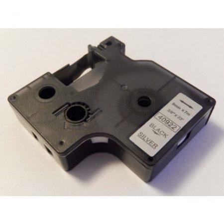 Dymo 40922 D1 9mm*7m fekete-ezüst feliratozószalag kazetta