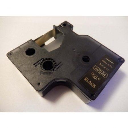 Dymo 40924 D1 Utángyártott szalag 9mm x 7m arany nyomtatás / fekete alapon