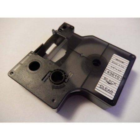 Dymo D1 43610 (S0720770) 6mm x 7m fekete nyomtatás átlátszó alap