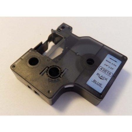 Dymo D1 43616 6mm * 7m fekete-kék feliratozószalag