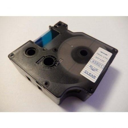 Dymo 45801 D1 átlátszó alapon kék 19mm * 7m feliratozószalag