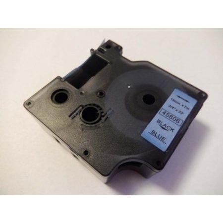 Dymo D1 45806 kék alapon fekete 19mm * 7m utángyártott feliratozószalag kazetta