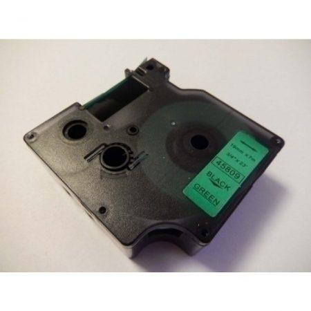 Dymo D1 45809 19mm * 7m zöld alapon fekete utángyártott feliratozószalag kazetta