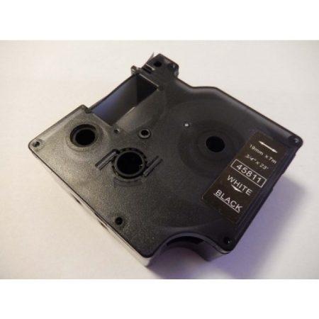 Dymo D1 45811 19mm * 7m fekete alapon fehér utángyártott feliratozószalag kazetta