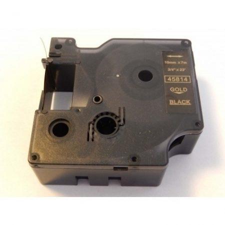 Dymo D1 45814 Fekete alapon arany 19mm * 7m feliratozógép szalag kazetta