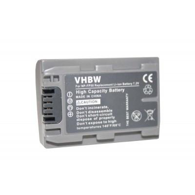 Sony NP-FP30  videókamera utángyártott li-ion akku akkumulátor - 600mAh (7.2V)