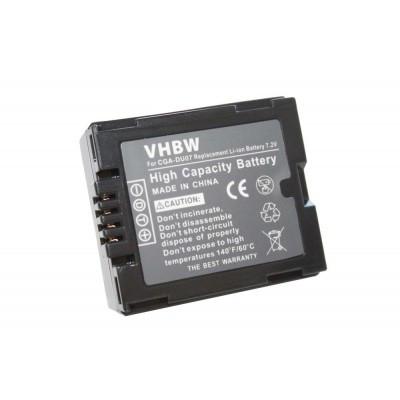 Panasonic CGA-DU07 videókamera utángyártott li-ion akku akkumulátor - 600mAh (7.2V)
