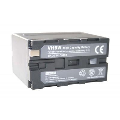 Sony NP-F960 videókamera utángyártott li-ion akku akkumulátor - 6000mAh (7.2V)