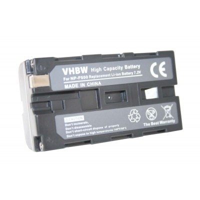 Sony NP-F550 videókamera utángyártott li-ion akku akkumulátor - 1800mAh (7.2V)