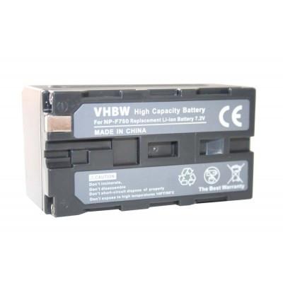 Sony NP-F750  videókamera utángyártott li-ion akku akkumulátor - 3600mAh (7.2V)