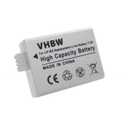 Canon LP-E5 utángyártott digitális fényképezőgép akkumulátor akku 800mAh (7.2V)
